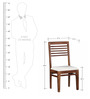 Winona Two Seater Dining Set in Provincial Teak Finish by Woodsworth