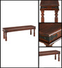 Valana Bench in Provincial Teak Finish by Amberville