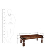 Earl Coffee Table in Provincial Teak Finish by Amberville