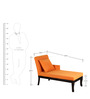 Terisse Lounger in Tangerine Color by Amberville