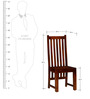 Oroville Dining Chair in Honey Oak Finish by Woodsworth