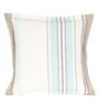 Sanaa Multicolour 100% Cotton 16 x 16 Inch Stipe Flange Cushion Cover
