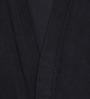 Sand Dune Black Cotton Long Sleeves Gents Bathrobe