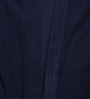 Sand Dune Dark Navy Blue Cotton Long Sleeves Unisex Bathrobe