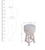 Sandy Hand-Made  Bar Stool in lvory & Beige Colour by The Rug Republic