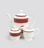 Sanjeev Kapoor Utsav Collection Bone China Tea Set - Set of 15