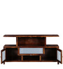 Rochester Entertainment Unit in Provincial Teak Finish by Woodsworth