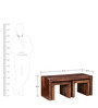 Olney Coffee Table Set in Provincial Teak Finish by Woodsworth