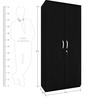 Santro Two Door Wardrobe in Black Colour by Exclusive Furniture