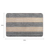 Saral Home Beige Microfiber 52 x 32 Inch Unique Design Tufted Super Soft Heavy Duty Floor Area Rug