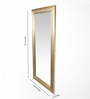 Satyam International Multicolour Solid Wood Brass Fitted Framed Mirror
