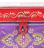 Satyam International Multicolour Solid Wood Painted Stationary Box