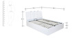 Scoop High Gloss Queen Bed with Hydraulic Storage in White Colour by @home