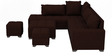 Scott RHS Modular Sofa with Center Table & Two Pouffes in Dark Brown Colour by CasaTeak