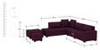 Scott RHS Modular Sofa with Center Table & Two Pouffes in Deep Orchid Colour by CasaTeak