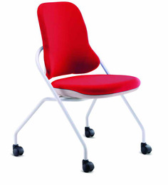 Scintilla Castor Chair In Red Colour By Godrej Interio