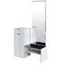 Scoop High Gloss Dresser with Mirror in White Colour by @home