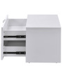 Scoop High Gloss Night Stand in White Colour by @home