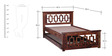 Stockton Single Bed with Trundle in Provincial Teak Finish by Woodsworth