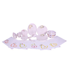 Servewell Urmi Juicy Fruit 37 Pcs Dinner Set With FREE Mat