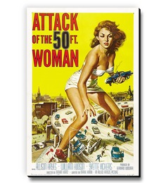 Seven Rays Attack On The 50Ft Woman Fridge Magnet