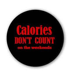 Seven Rays Calories Don't Count Fridge Magnet