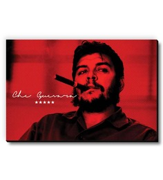 Seven Rays Red MDF Che Guevara Smoking Cigar Fridge Magnet