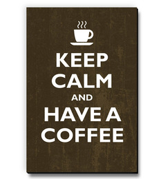 Seven Rays Brown MDF Keep Calm & Love Coffee Fridge Magnet