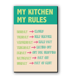 Seven Rays My Kitchen My Rules Fridge Magnet - 1363715