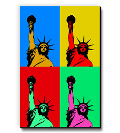 Seven Rays Statue Of Liberty Popart Fridge Magnet