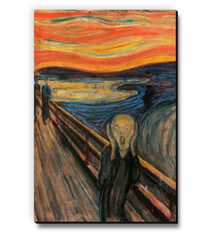 Seven Rays Multicolour MDF The Scream Fridge Magnet