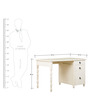Seaside Dreams Theme Desk in Ivory Finish by Pink Guppy