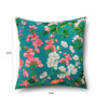 Sej by Nisha Gupta Green Cotton 16 x 16 Inch HD Digital Premium Floral Cushion Cover - 1pc