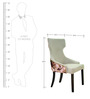 Serra Lounge Chair in Printed Beige Colour by CasaCraft