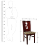 Set of 2 Dining Chairs in Brown Colour by Penache Furnishings