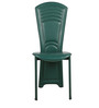 Set of 2 Dining Chairs in Maroon & Green Colour by Penache Furnishings