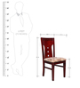 Set of 2 Dining Chairs in Maroon Colour by Penache Furnishings