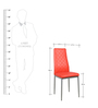 Set of 2 Dining Chairs in Red Colour by Penache Furnishings