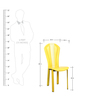 Set of 2 Dining Chairs in Yellow Colour by Penache Furnishings