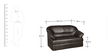 Shine Two Seater Sofa in Brown Colour by Parin
