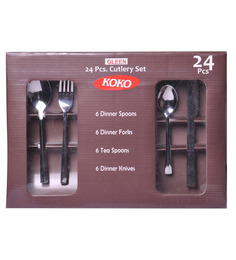 Shapes Koko Gleen Stainless Steel 24-piece Cutlery Set