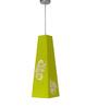 Shady Ideas Green Leaflets Trapeze Steel Pendant