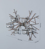 Shaz Living Silver Mild Steel & Glass Abstract Wall Sconce