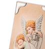 Shaze Resin with Silver Plating 2.4 x 4.3 x 5.9 Inch Angel & Sleeping Baby Frame