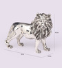 Shaze Silver Resin with Silver Plating Fierce Leo Showpiece