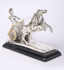 Shaze Silver Resin with Silver Plating Small Chariot Art Showpiece