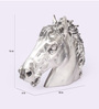 Shaze Silver Resin with Silver Plating The Horse Head Art Showpiece
