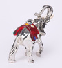Shaze Silver Resin with Silver Plating The Red Truncus Showpiece