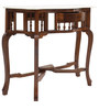 Sheesham Wood Console with Marble Top by VarEesha