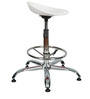 Shell Bar Stool In White Color By The Furniture Store